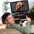 Watching TV — Stockfoto