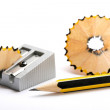 Pencil and pencil sharpener — Stock Photo #30694189