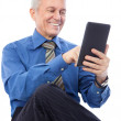 Businessman using tablet — Stock Photo #30694269