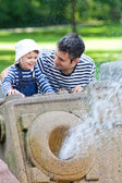 At the fountain — Stock Photo