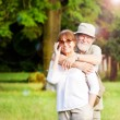 Senior couple smiling — Stock Photo