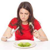Hungry on a diet — Stock Photo