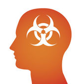Illustration related to biological risk — Stock Vector