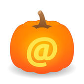 Pumpkin with icon — Stock Vector