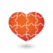Heart puzzle — Stock Vector