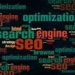 SEO Word Cloud — Stock Photo