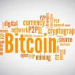 Word cloud concept bitcoin related — Stock Vector