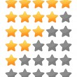 Rting stars set — Stock Vector
