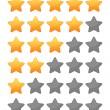 Rting stars set — Stock Vector