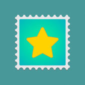 Mail stamp with a star — ストックベクタ