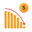 Dollar chart concept — Stock Vector