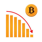 Bitcoin Graph Konzept — Stockvektor