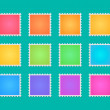 Post stamp color set — Stock Vector