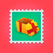 Post stamp — Vector de stock