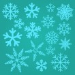 Stock Vector: Snow flakes