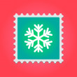 Post stamp with snow flake — Stock Vector #37146779