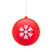 Vánoční koule s sněhová vločka — Stock vektor