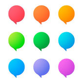 Comic balloon icon set — Vector de stock