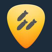Guitar pick icon — Stock Vector