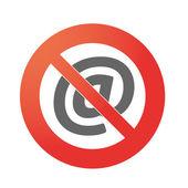 запретный сигнал — Cтоковый вектор