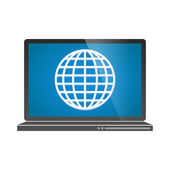 Laptop icon — Stock Vector