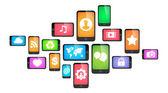 Concepto de smartphone — Vector de stock