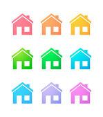 House icon set — Stock Vector