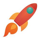 Icono de cohete — Vector de stock