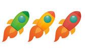 Rocket icon set — Stock Vector