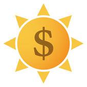 Sun-ikonen — Stockvektor