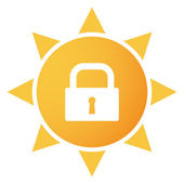 Icono sol — Vector de stock
