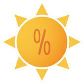 Sun icon — Stock Vector