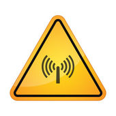 Danger sign with a wifi signal — Stock Vector