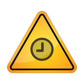 Danger sign with a clock — Vector de stock