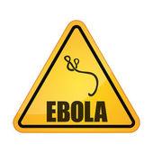 Ebola danger signal — Stock Vector