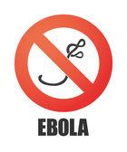 Forbidden signal with an ebola sign — Stock Vector