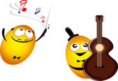 Music emoticons — Stock Vector