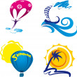 Summer icons — Stock Vector #30821955
