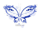 Watercolor butterfly — Stock Vector