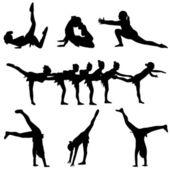 Taniec i gimnastyka — Wektor stockowy