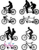 Bicyclist silhouette vector — Stock Vector