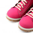 Close-up pink boots — Foto de Stock