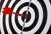 Red darts target — Stock Photo
