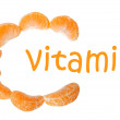 Tangerine vitamin C — Stock Photo #33668845