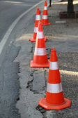 Safety cones — Stock Photo