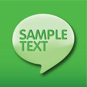 Falar da bolha, bolhas do discurso verde sobre fundo verde. — Vetor de Stock