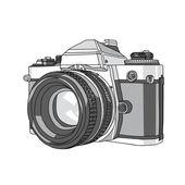 Camera, Hand Drawn of Vector Camera, illustration of camera — Stock Vector