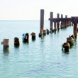 Old wooden jetty in the sea — Stock Photo #36329013