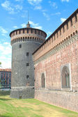 Glimpse of Sforza castle, Milan — Stock Photo