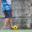Chidren play soccer — Stock Photo